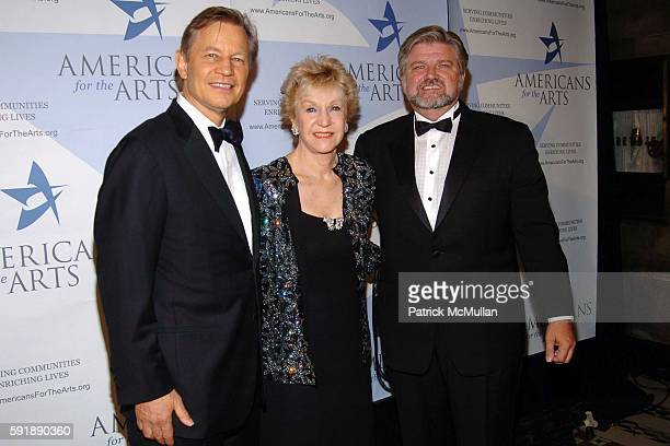 Michael York Pat York and Robert Lynch attend The Americans for The Arts National Arts Awards at Cipriani 42nd Street on October 11 2005 in New York...