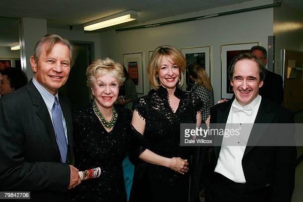 Michael York wife Patricia McCallum Jennifer Conlon and Los Angeles Opera Music Director James Conlon pose backstage at the Los Angeles Opera's...
