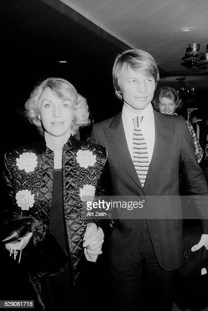 Michael York with his wife Patricia McCallum circa 1970 New York