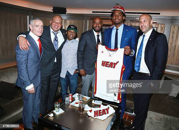 Michael Yormark Shawn Pecas Tyran 'Ty Ty' Smith Juan Perez NBA first round draft pick Justise Winslow Miami Heat and Rich Kleiman attend Roc Nation...