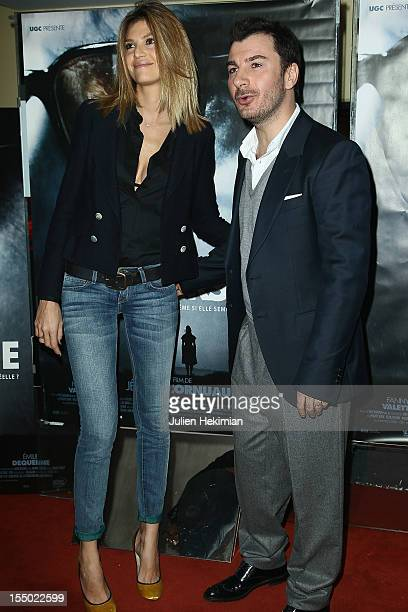 Michael Youn and Isabelle Funaro attend 'La Traversee' Premiere at UGC Cine Cite des Halles on October 30 2012 in Paris France