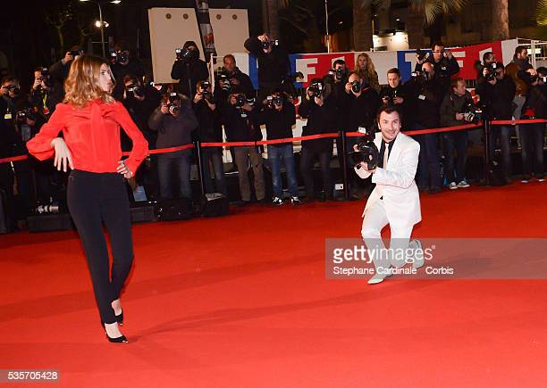 Michael Youn and Isabelle Funaro attend the NRJ Music Awards 2013 at Palais des Festivals in Cannes