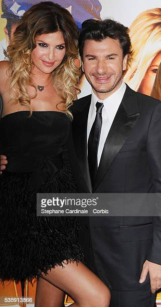 Michael Youn and Isabelle Funaro attend the premiere of Fatal in Paris