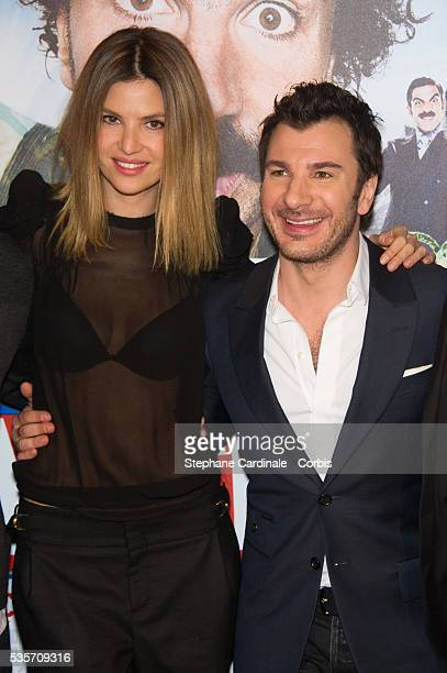 Michael Youn and Isabelle Funaro attend the 'Vive La France' Premiere at UGC Bercy in Paris