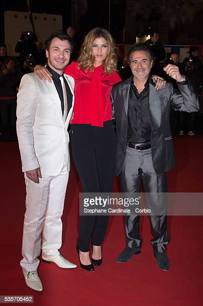 Michael Youn Isabelle Funaro and Jose Garcia attend the NRJ Music Awards 2013 at Palais des Festivals in Cannes