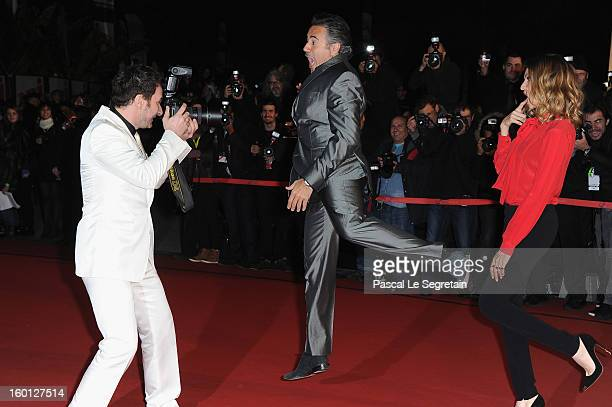 Michael Youn Jose Garcia and Isabelle Funaro attend the NRJ Music Awards 2013 at Palais des Festivals on January 26 2013 in Cannes France
