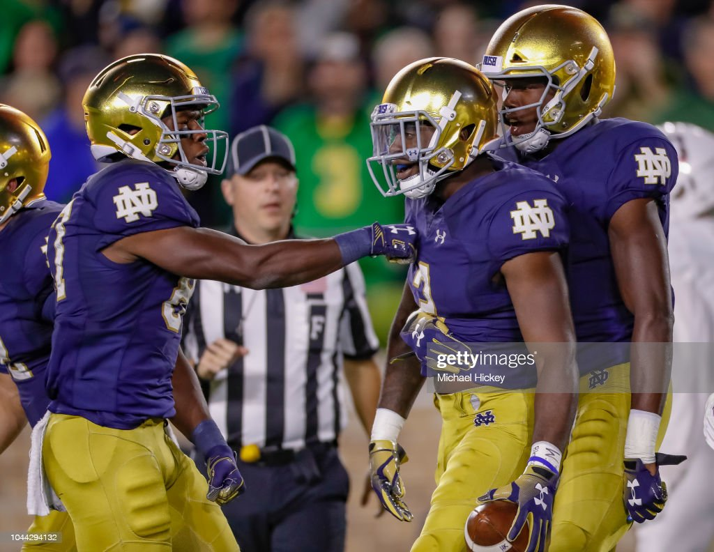 Stanford v Notre Dame : News Photo