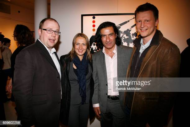 Michael Zaitsev Olga Chernova Eric Allouche and Michael Chernov attend Opening night of Nimbus Vapor at OPERA GALLERY at Opera Gallery on October 1...