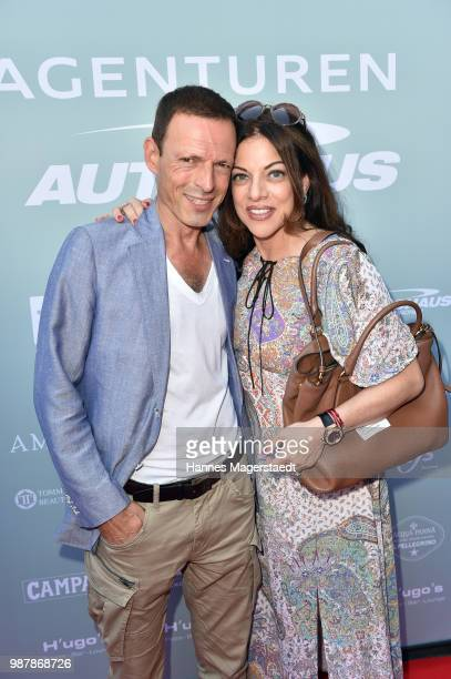 Michael Zechbauer and Alice Brauner attend the 'Sommerfest der Agenturen' during Munich Film Festival 2018 at Hugo's on June 30 2018 in Munich Germany