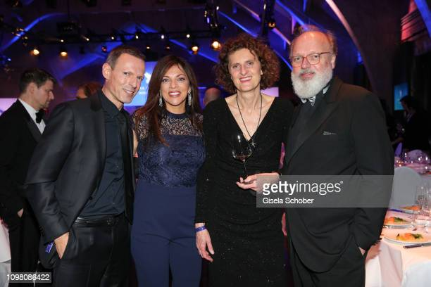 Michael Zechbauer and his wife Dr Alice Brauner Innegrit Volkhardt Georg Seitz during the Cinema for Peace Gala at the Westhafen Event Convention...