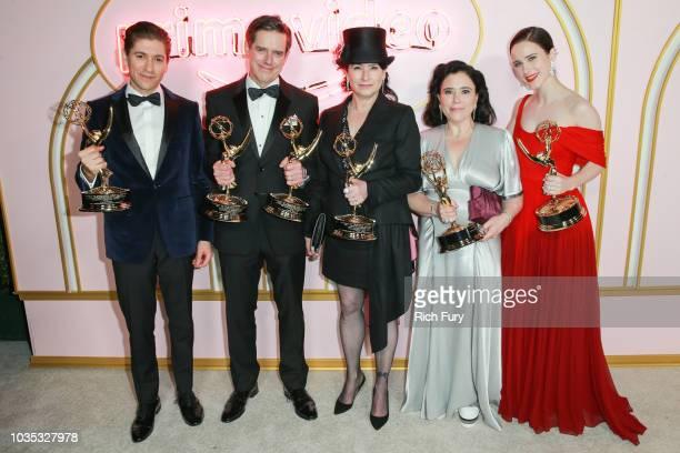 Michael Zegen Daniel Palladino Amy ShermanPalladino Alex Borstein and Rachel Brosnahan attend the Amazon Prime Video post Emmy Awards party at...