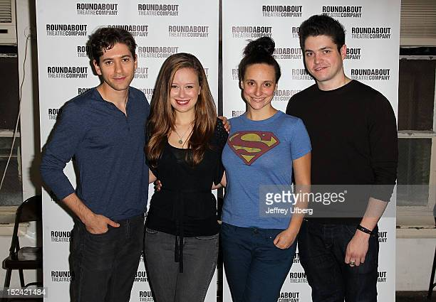 Michael Zegen Molly Ranson Tracee Chimo and Philip Ettinger attends Bad Jews Cast Photo Call on September 20 2012 in New York City