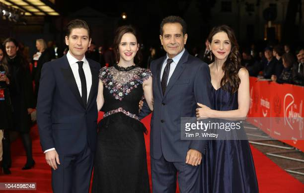 Michael Zegen Rachel Brosnahan Tony Shalhoub and Marin Hinkle attend the World Premiere of Amazon Prime Video's The Romanoffs at The Curzon Mayfair...