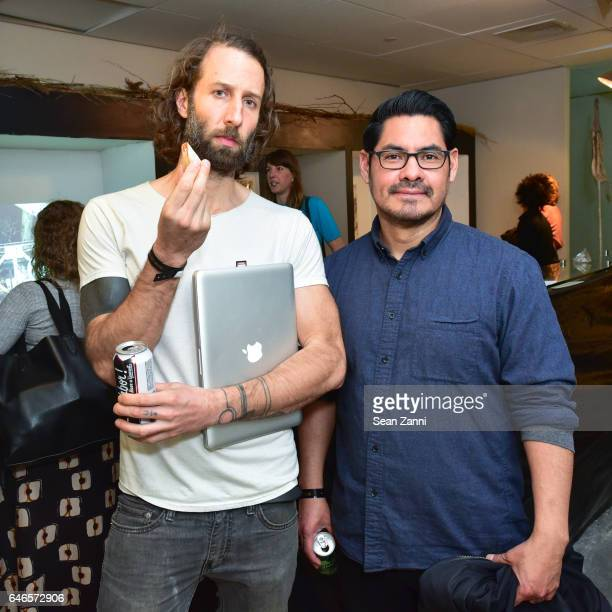 Michael Zelehoski and Karlos Carcamo attend Spring Break Art Fair 2017 Vernissage at 4 Times Square on February 28 2017 in New York City
