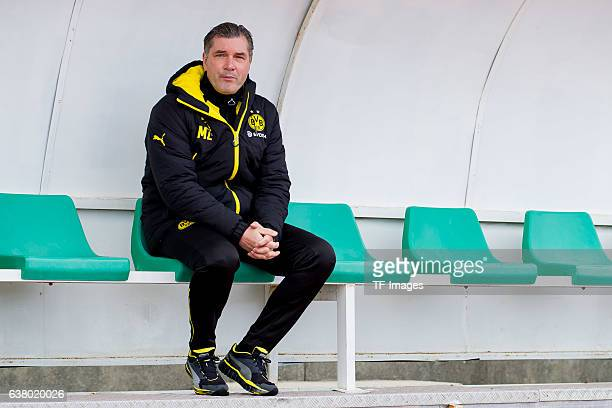 Michael Zorc of Dortmund looks on during the friendly match between Borussia Dortmund v PSV Eindhoven Friendly Match at Estadio Municipal La Linea de...