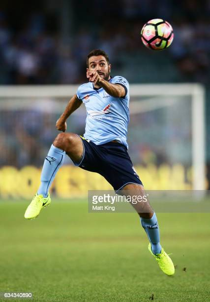 Michael Zullo of Sydney FC controls the ball during the round 19 ALeague match between Sydney FC and the Wellington Phoenix at Allianz Stadium on...