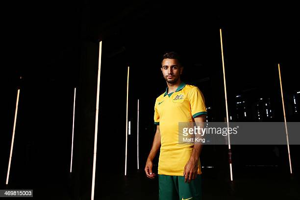 Michael Zullo poses during the Australian Socceroos 2014 FIFA World Cup kit launch on February 17 2014 in Sydney Australia