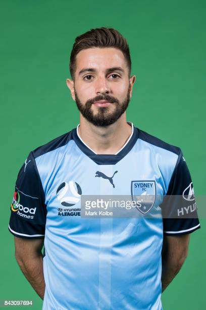 Michael Zullo poses during the Sydney FC ALeague headshots session at Macquarie University on September 5 2017 in Sydney Australia