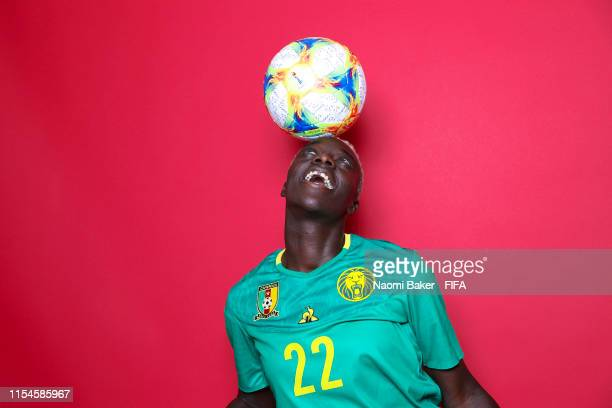 Michaela Abam of Cameroon poses for a portrait during the official FIFA Women's World Cup 2019 portrait session at Crowne Plaza Montpellier Corum on...