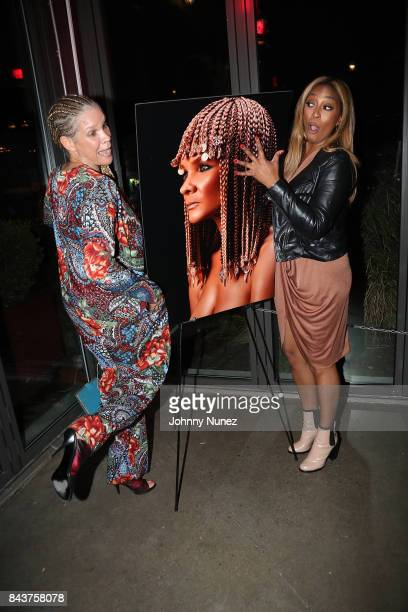 Michaela Angela Davis and Camara Aunique Attend Harlem's Fashion Row at La Marina Restaurant Bar Beach Lounge on September 6 2017 in New York City