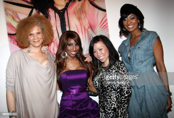Michaela Angela Davis Necole Bitchie Miss Info and Keri Hilson attend the Belvedere Pink Grapefruit In The Pink launch party at The Belvedere Pink...