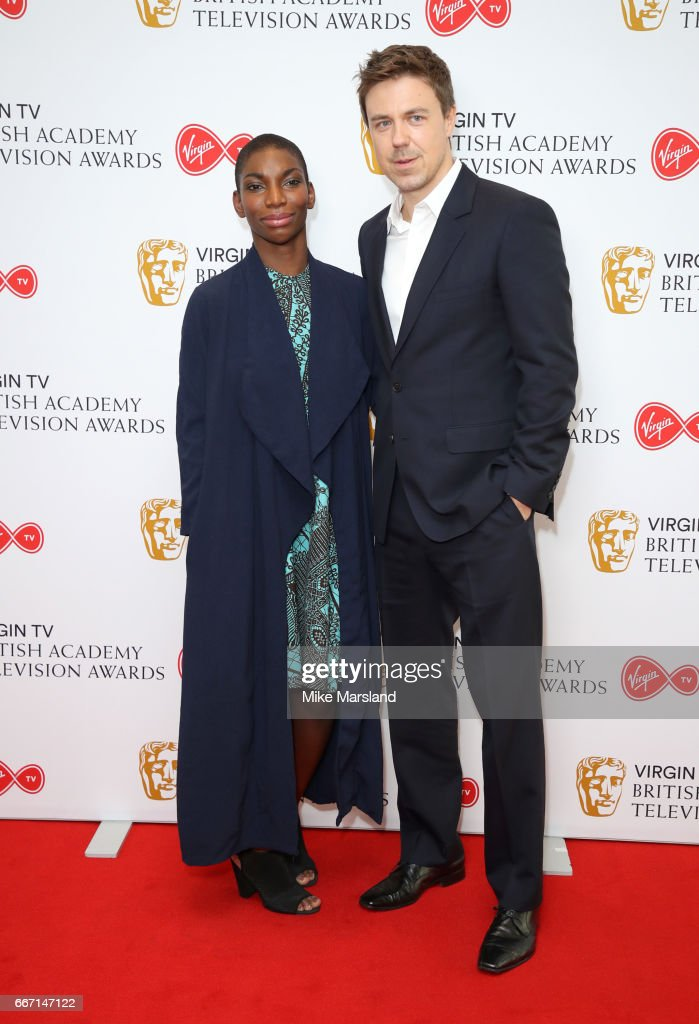 Michaela Coel And Andrew Buchan Attend The Nominations Announcement For Virgin Tv British Academy Television