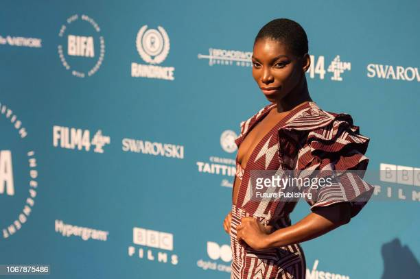 Michaela Coel attends the 21st British Independent Film Awards at Old Billingsgate in the City of London December 02 2018 in London United Kingdom
