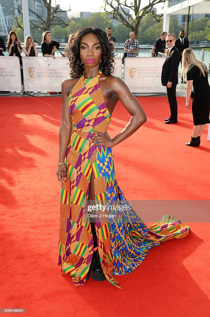 Michaela Coel attends the House Of Fraser British Academy Television Awards 2016 at the Royal Festival Hall on May 8, 2016 in London, England.