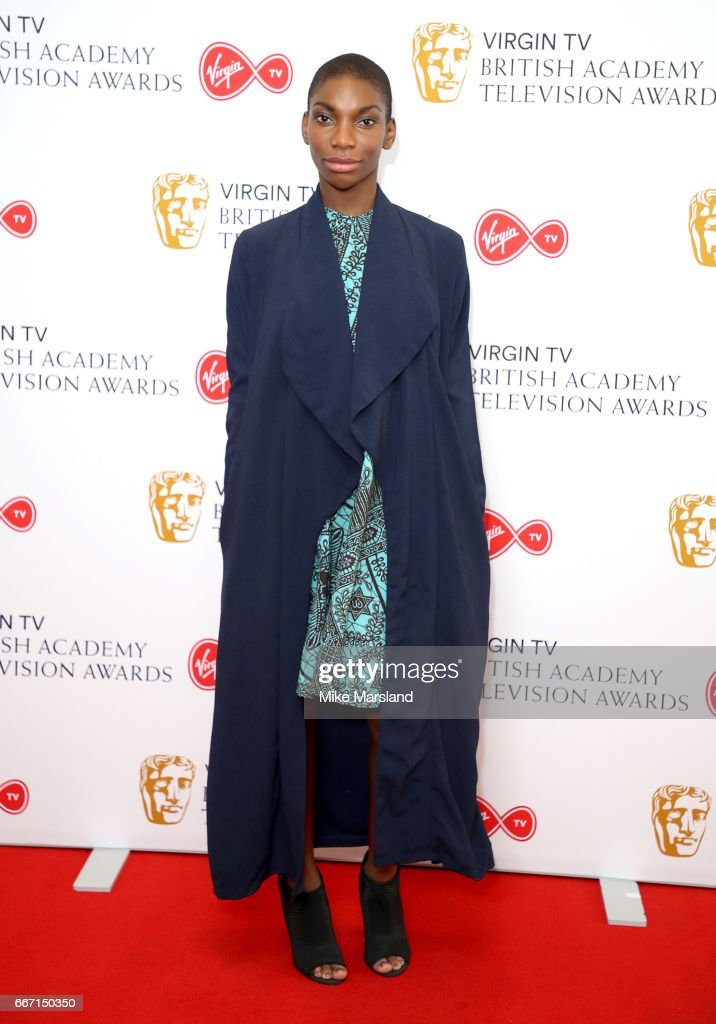 Michaela Coel Attends The Nominations Announcement For Virgin Tv British Academy Television Awards At Bafta