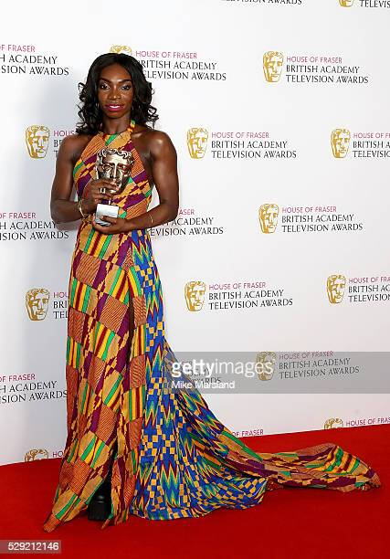 Michaela Cole winner of Best Female Performance In A Comedy Programme for 'Chewing Gum' in the winners room at the House Of Fraser British Academy...