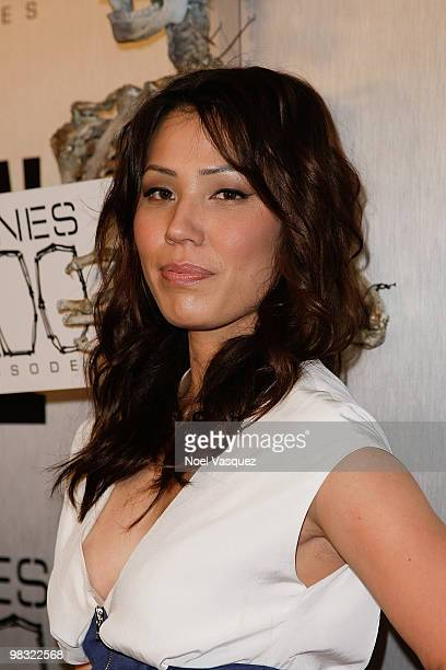 Michaela Conlin attends the Bones 100th episode celebration at 650 North on April 7 2010 in West Hollywood California