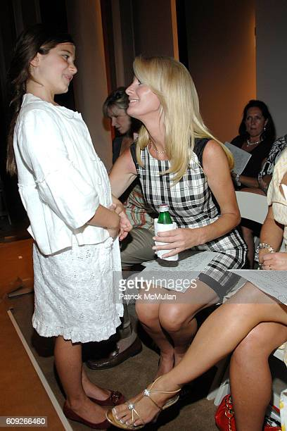 Michaela Cuomo and Sandra Lee attend BILL BLASS New York Fall '07 Fashion Show Reception at New York Public Library on July 17 2007 in New York City