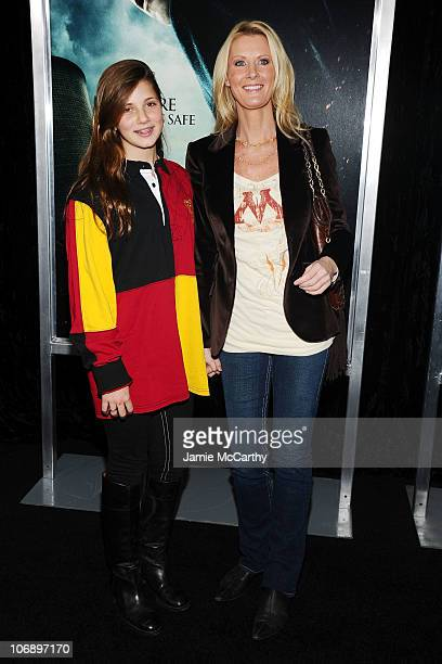 Michaela Cuomo and TV Personality Sandra Lee attend the premiere of Harry Potter and the Deathly Hallows Part 1 at Alice Tully Hall on November 15...