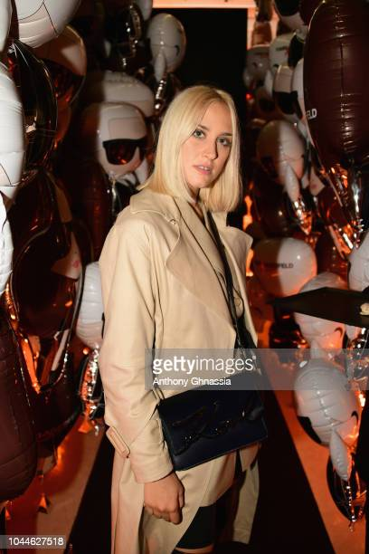 Michaela D'angelo attends the launch of the Karl x Kaia collaboration capsule collection on October 2 2018 in Paris France