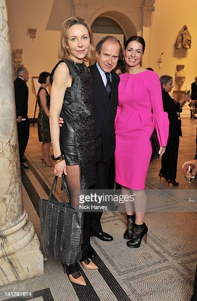 Michaela De Pury Simon De Pury and Yana Peel attend the Design Fund Gala in aid of Victoria and Albert Museum at The VA on March 13 2012 in London...