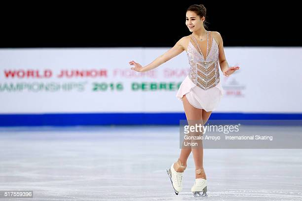 Michaela Du Toit from South Africa skates during the Ladie's short program of the ISU World Junior Figure Skating Championships 2016 at The Fonix...