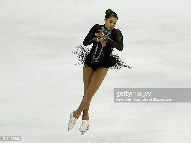 Michaela Du Toit of of South Africa performs during the Ladies Free Skating on day three of the ISU Four Continents Figure Skating Championships 2016...