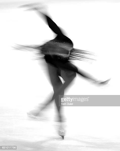 Michaela Du Toit of South Africa competes during FBMA Trophy for Figure Skating 2017 at Zayed Sports City on January 5 2017 in Abu Dhabi United Arab...