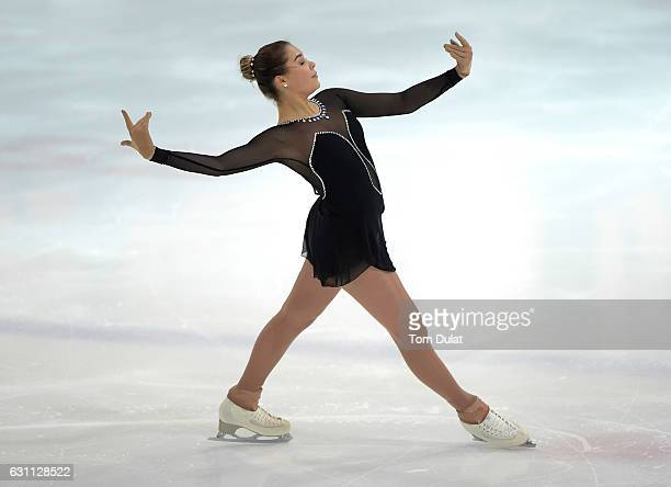 Michaela Du Toit of South Africa competes during FBMA Trophy for Figure Skating 2017 at Zayed Sports City on January 7 2017 in Abu Dhabi United Arab...