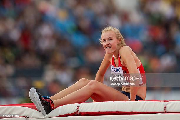 Michaela Hruba from Czech Republic competes in women's high jump during the IAAF World U20 Championships at the Zawisza Stadium on July 24 2016 in...