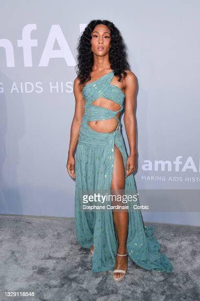 Michaela Jaé Rodriguez attends the amfAR Cannes Gala 2021 during the 74th Annual Cannes Film Festival at Villa Eilenroc on July 16, 2021 in Cap...