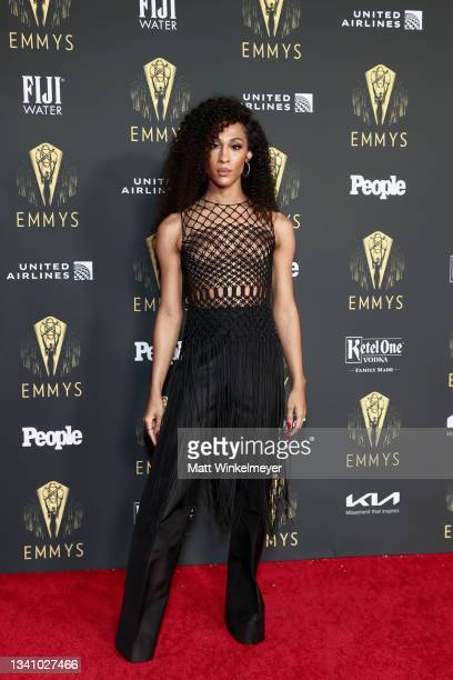 Michaela Jaé Rodriguez attends the Television Academy's Reception to Honor 73rd Emmy Award Nominees at Television Academy on September 17, 2021 in...