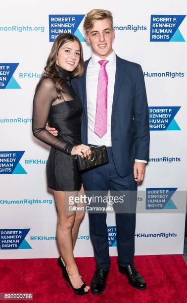 Michaela Kennedy Cuomo and guest attend Robert F Kennedy Human Rights Hosts Annual Ripple Of Hope Awards Dinner at New York Hilton on December 13...