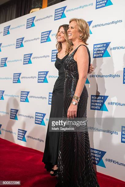 Michaela Kennedy Cuomo and Kerry Kennedy attend the Robert F Kennedy Human Rights 2015 Ripple Of Hope Awards at New York Hilton Midtown on December 8...