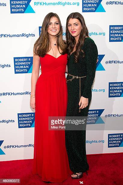 Michaela Kennedy Cuomo and Mariah Kennedy Cuomo attend the 2014 Robert F Kennedy Ripple Of Hope Awards at the New York Hilton on December 16 2014 in...