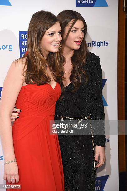 Michaela Kennedy Cuomo and Mariah Kennedy Cuomo attend the 2014 RFK Ripple Of Hope Awards at New York Hilton on December 16 2014 in New York City