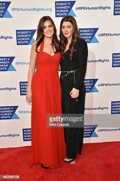 Michaela Kennedy Cuomo and Mariah Kennedy Cuomo attend the RFK Ripple Of Hope Gala at Hilton Hotel Midtown on December 16 2014 in New York City