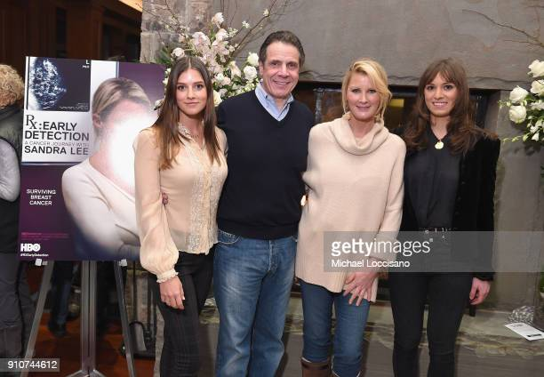Michaela Kennedy Cuomo Governor Andrew M Cuomo Sandra Lee and Mariah Kennedy Cuomo attend the RX Early Detection A Cancer Journey With Sandra Lee At...