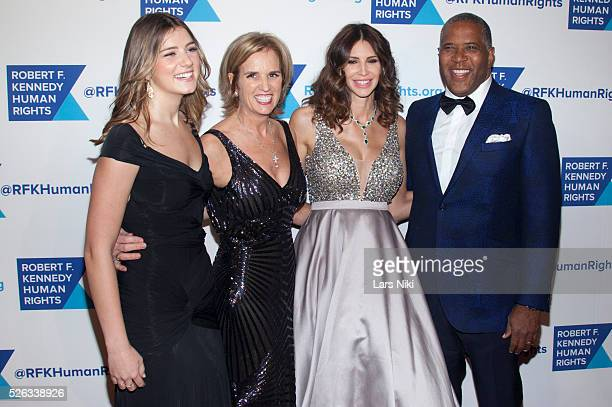 Michaela Kennedy Cuomo Kerry Kennedy Hope Dworaczyk Smith and Robert Smith attend The 2015 Ripple Of Hope Awards at the New York Hilton in New York...