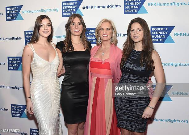 Michaela Kennedy Cuomo Mariah Kennedy Cuomo Kerry Kennedy and Kick Kennedy attend the 2016 Robert F Kennedy Human Rights' Ripple Of Hope Awards at...